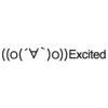 Excited emoticons(emoticones)