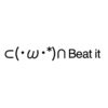 Beat it emoticons(emoticones)