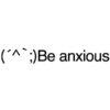 Be anxious emoticons(emoticones)