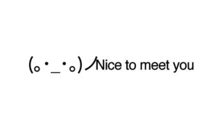 Nice to meet you emoticons(emoticones)