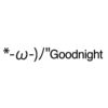 Goodnight  emoticons(emoticones)